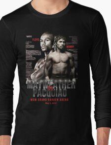 Mayweather vs Pacquiao Shirt  Long Sleeve T-Shirt