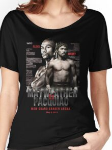 Mayweather vs Pacquiao Shirt  Women's Relaxed Fit T-Shirt