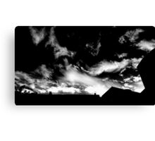 Clouds Over Downtown LA (B/W) Canvas Print