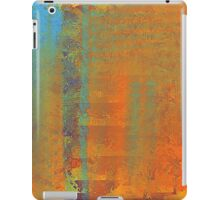Abstract in Aqua, Copper, and Gold iPad Case/Skin