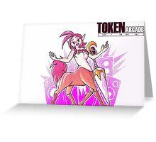 Token Arcade- Singer Greeting Card