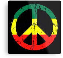 Rasta Peace - Distressed Metal Print