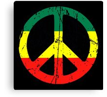 Rasta Peace - Distressed Canvas Print