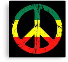 Rasta Peace - Distressed Canvas Print