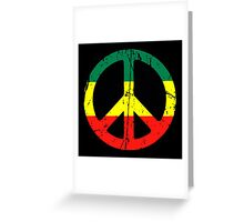 Rasta Peace - Distressed Greeting Card