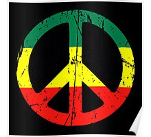 Rasta Peace - Distressed Poster