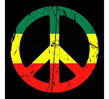 Rasta Peace - Distressed Photographic Print