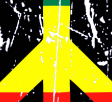Rasta Peace - Distressed Sticker