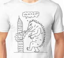 Kaiju in a moment of honest self-reflection Unisex T-Shirt