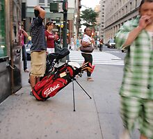 Golfer in Manhattan by liqwidrok