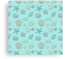 Nautical Beach Sea Shells Canvas Print
