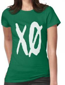 XO Slash [White] Womens Fitted T-Shirt