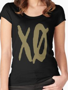 XO Slash [Gold] Women's Fitted Scoop T-Shirt