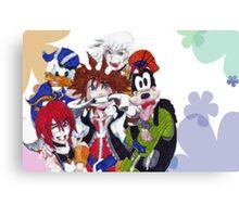 Kingdom Hearts- Group Canvas Print