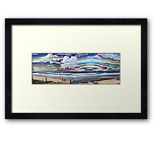 Rainbow Beach Surreal Framed Print
