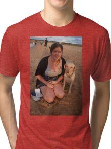 11. Jen with Kelpie-Lab Tri-blend T-Shirt