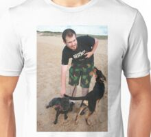 10. Chris with his English Staffy Unisex T-Shirt
