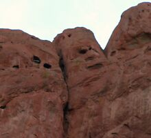 Face in the rocks by Carlyn Luken