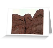 Face in the rocks Greeting Card