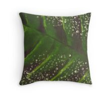Leaf, close up. Throw Pillow
