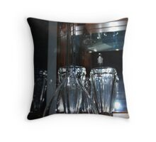 Flask and Glassware Throw Pillow