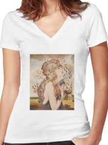 Dusk Women's Fitted V-Neck T-Shirt