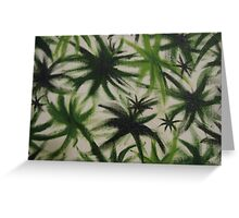 Obscure leaves. Greeting Card