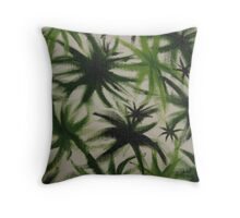 Obscure leaves. Throw Pillow