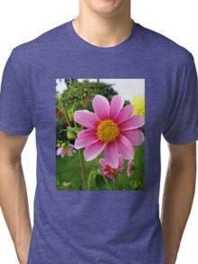 A Sunny Corner of a Tyneside Garden Tri-blend T-Shirt