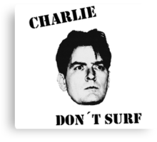 Charlie don't surf - Mashup Canvas Print