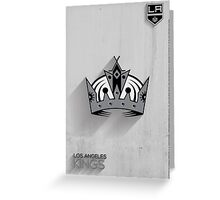 Los Angeles Kings Minimalist Print Greeting Card
