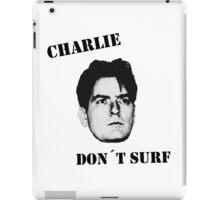 Charlie don't surf - Mashup iPad Case/Skin