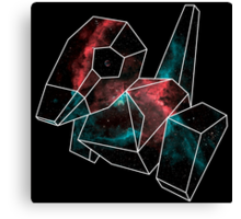 Cosmic Porygon with white outline Canvas Print
