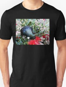 Delights From Nature - Tūī - Pohutukawa Tree - NZ Unisex T-Shirt