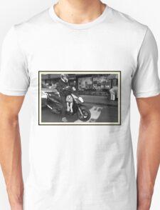 Dog on a motorcycle Unisex T-Shirt