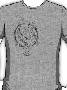 LATTICE LETTER O - destroyed grey T-Shirt