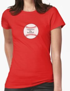 Vampires like Baseball Womens Fitted T-Shirt