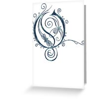 LATTICE LETTER O - river Greeting Card
