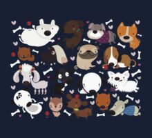 Dog pattern Kids Tee