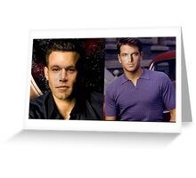 Ben damon and Matt Affleck Greeting Card