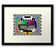 No signal TV Screen Framed Print