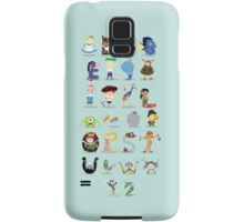 Animated characters abc Samsung Galaxy Case/Skin