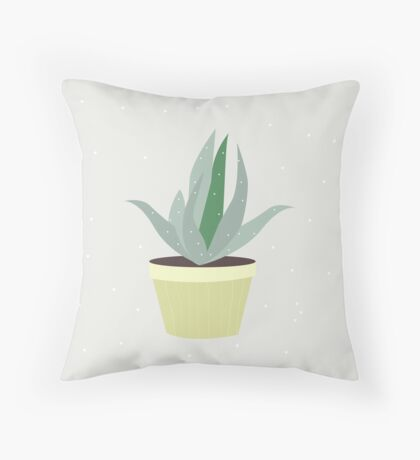 Succulent V1 Throw Pillow