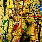Paint in Abstract on Work Table 12 by Larry Costales