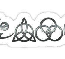 TRIQUETRA - brushed metal H Sticker