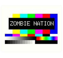 Zombie Nation - TV Art Print