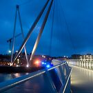 Riverfront footbridge - Newport by Kevin Jones