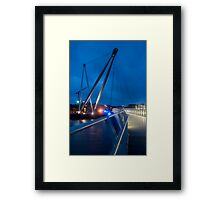 Riverfront footbridge - Newport Framed Print