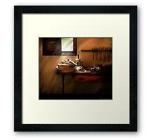 The humble fire hose Framed Print