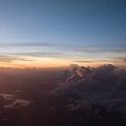 Sunset from 20,000 feet - #1 by Simon Blears